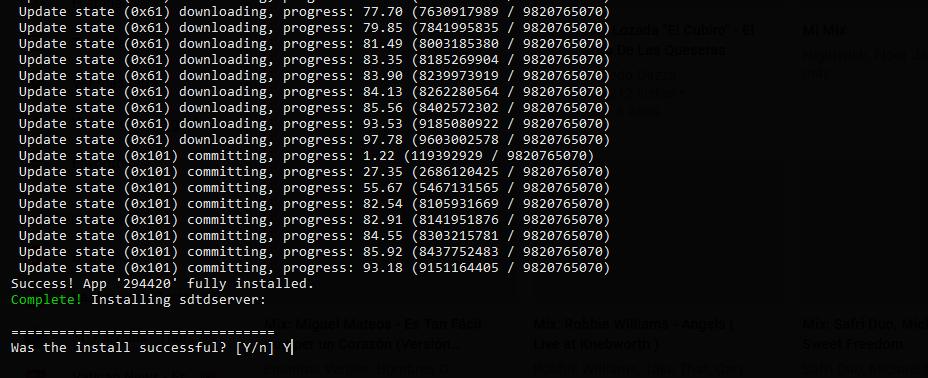 1.- 7 Days to die server installed