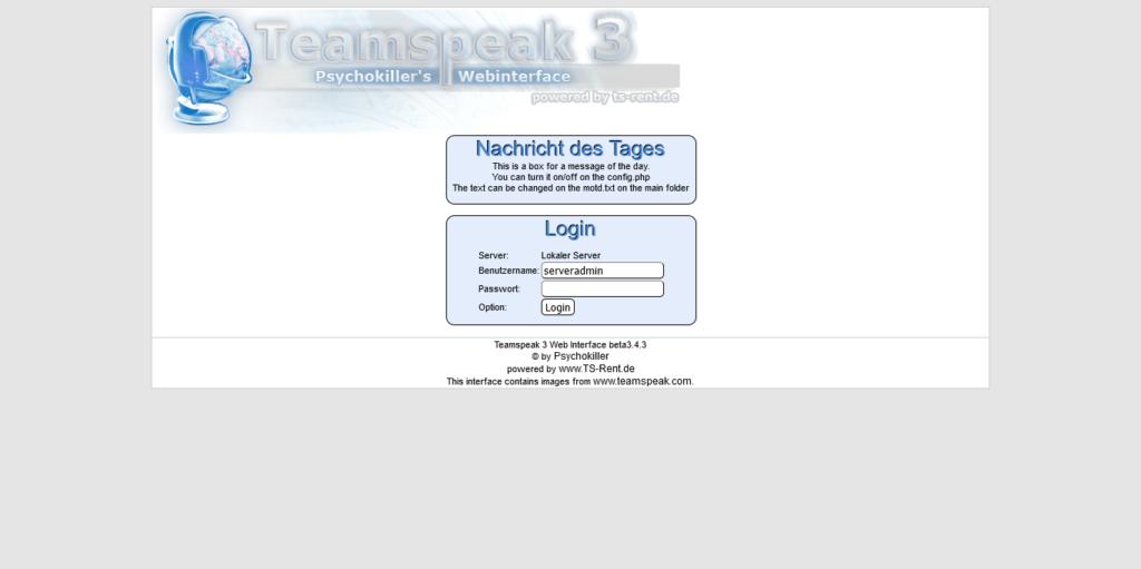 2.- Login Screen