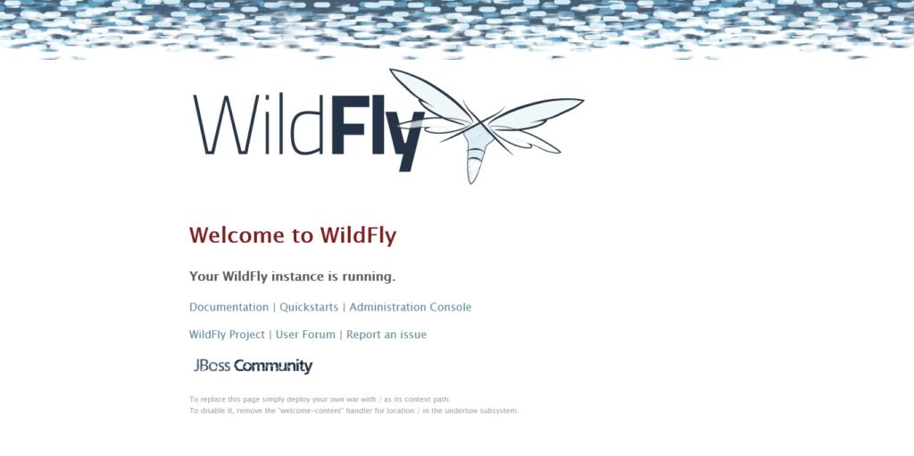 2.- Wildfly running on Debian 10