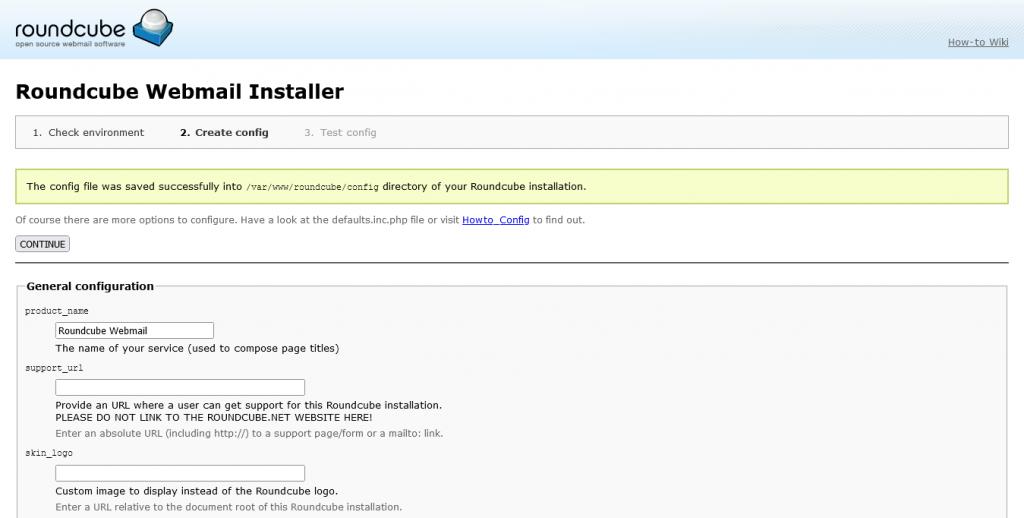 3.- Roundcube installed on Ubuntu 20.04