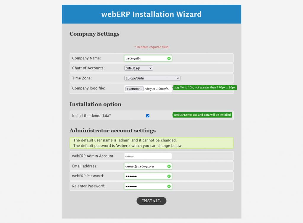 4.- Installing WebERP on Ubuntu 20.04