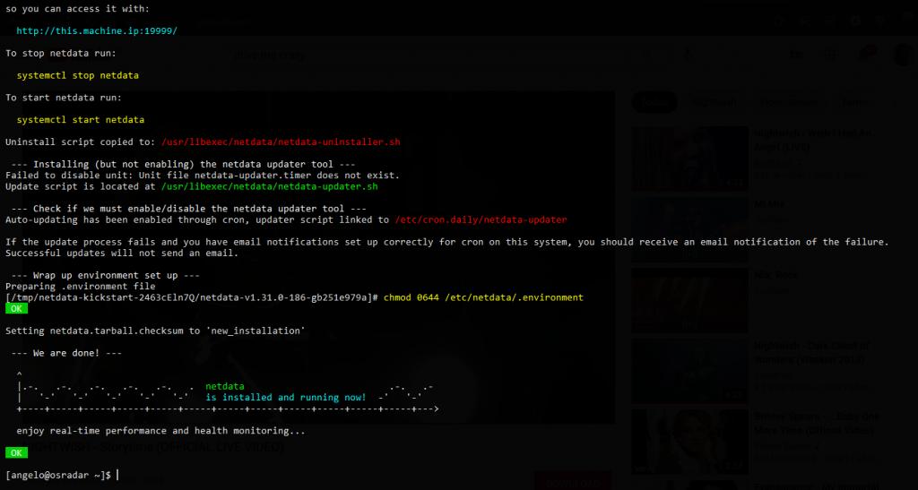 1.- Netdata on Rocky Linux 8 / AlmaLinux 8 / CentOS 8