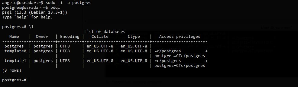 2.- Testing PostgreSQL