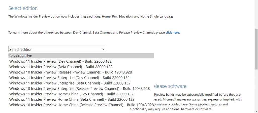 Choosing Windows 11 version