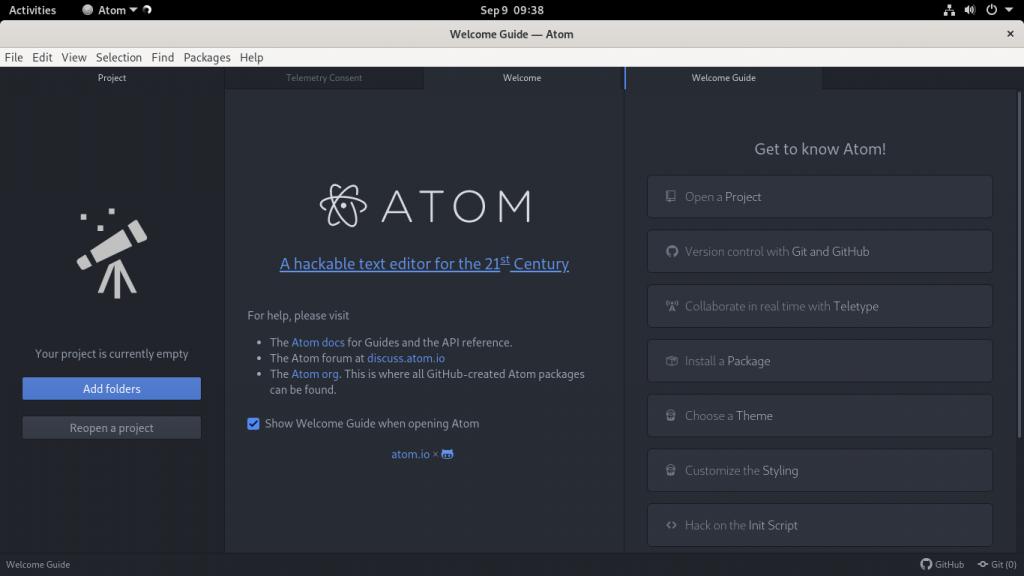 Atom on Debian 11