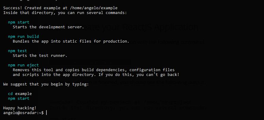 1.- ReactJS installed