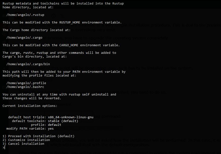 1.- Installing Rust programming Language on Debian 11