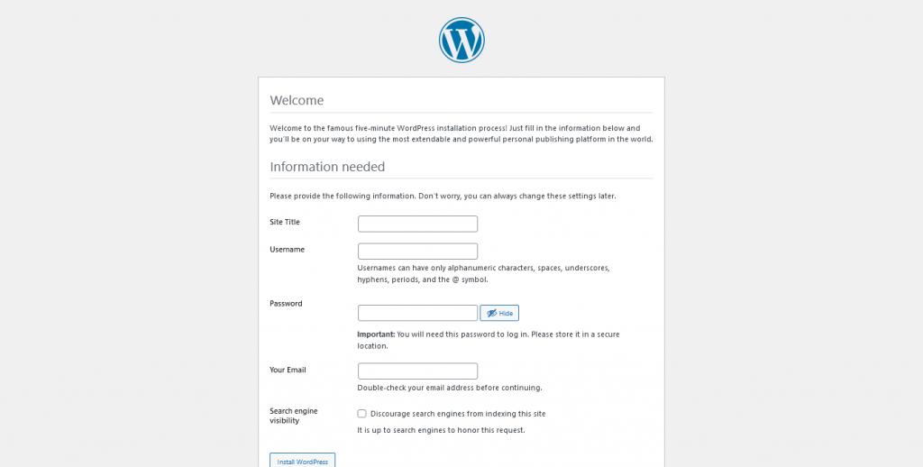 5.- Site information