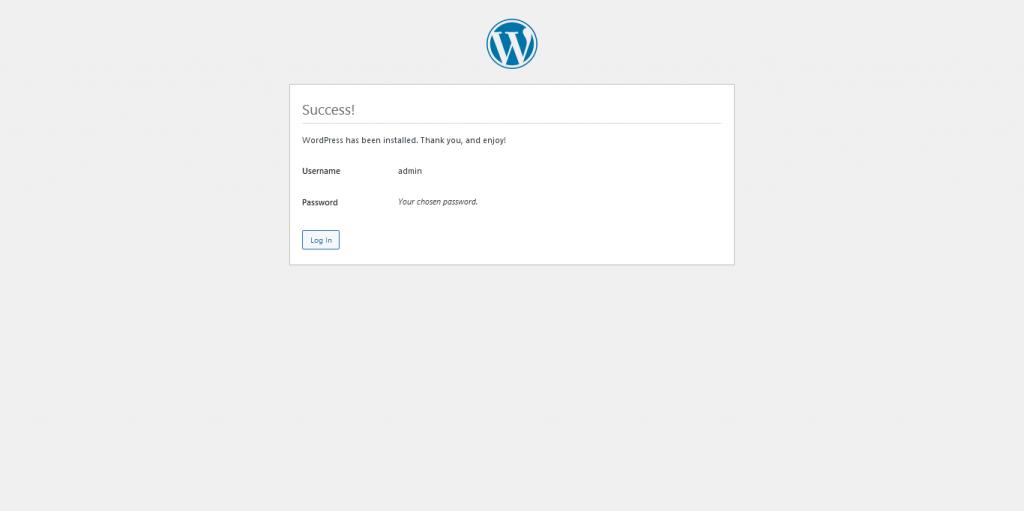 6.- WordPress installed