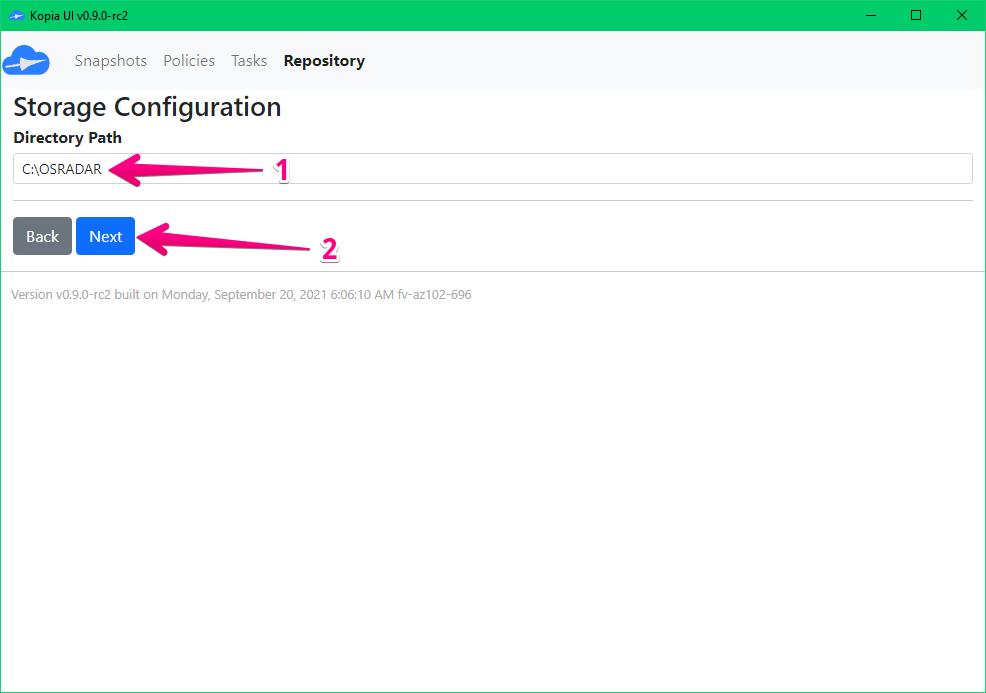 Repository path configuration