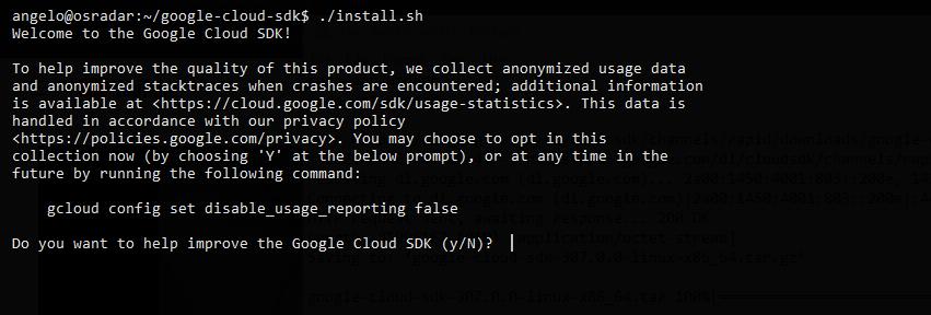 1.- Installing the Google Cloud SDK on Ubuntu 20.04